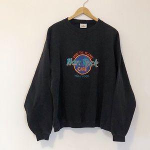 Vintage 90s Hard Rock Cafe Hollywood Crewneck Sweatshirt